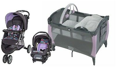 Baby Stroller Car Seat Infant Playard Travel System Combo Set Graco New