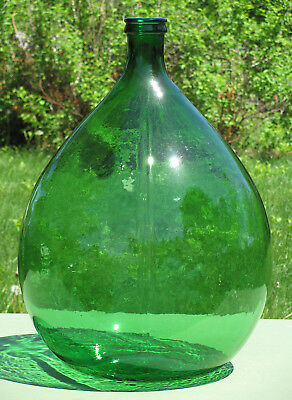 Beautiful Large Green Glass DEMI JOHN CARBOY DAME JEANNE 8 Gallon RARE!