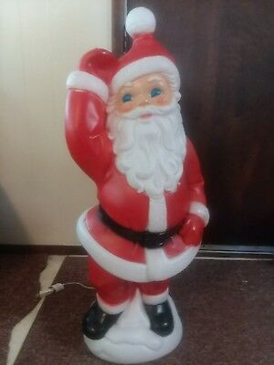 santa general foam plastics blow mold christmas decoration rare collectible