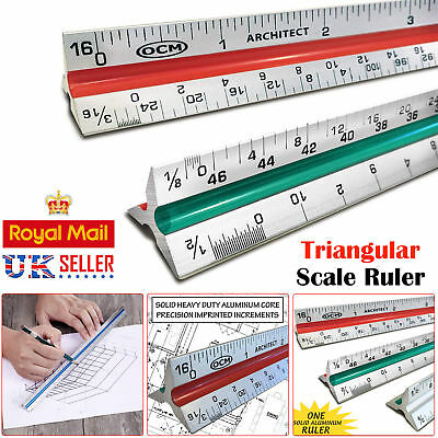 Professional 6 Scales 305CM Triangular Scale Ruler For Engineer Architect Artist