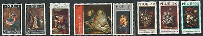 NIUE 1967, 1969, 1970, 1972, 1973 CHRISTMAS, 8 values, MNH, but 1971 3d. is MLH