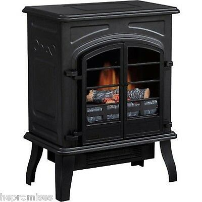 Electric Freestanding Mantle Fireplace / Stove Heater Black - NEW