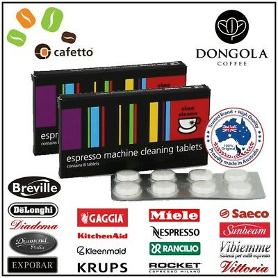 2PK CAFETTO CINO CLEANO CLEANING TABLETS Espresso Coffee Machine Cleaner Clean