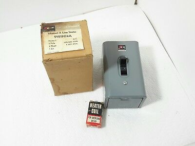 New Cutler Hammer manual starter 9101H74A 1 pole 1 hp new old stock
