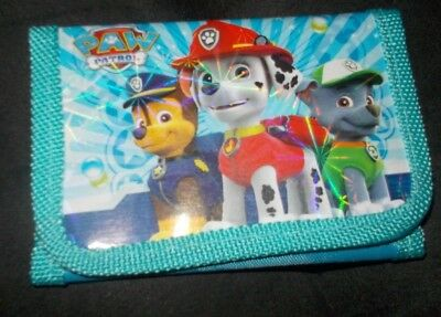 New without tags, Paw Patrol Trifold Wallet, Aqua (P53)