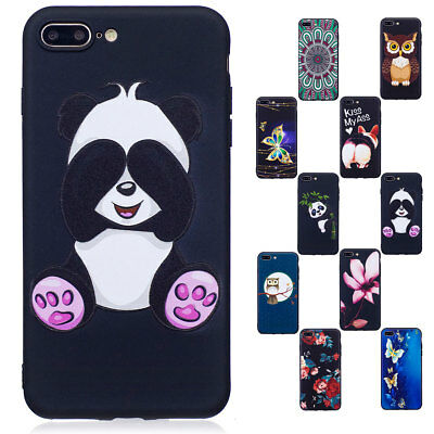 For iPhone 7 / 7 Plus Luxury Pattern Skin Shockproof Rubber Silicone Case Cover