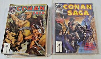 Conan Saga Marvel Lot Of 31 HIGHER GRADE COMPLETE Comic Magazine Savage Complete