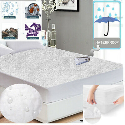 FULL Mattress Cover Protector Waterproof Terry Towel Extra Deep Fitted Sheet