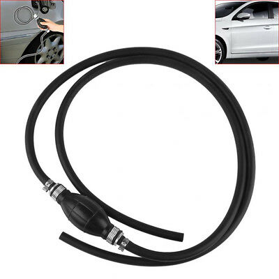 """Braided Fuel Gas Line 5/16"""" Hose Assembly w/Outboard Primer Bulb For Marine Boat"""