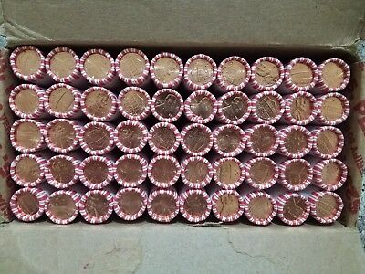 10 ROLLS OF 2017D UNCIRCULATED /& UNSEARCHED FEDERAL RESERVE PENNIES 500 Total