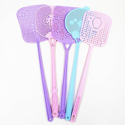 Candy Color Plastic Fly Wasp Swatters Swat Insect Mosquito Catcher Bug Swatter