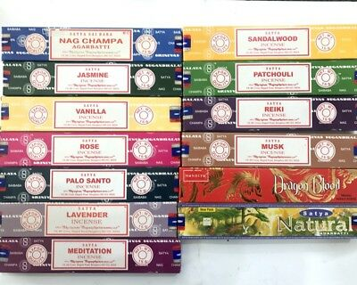 Incense sticks 15 Box Fresh Nag Champa Satya Incense Stick Home Fragrance Bulk