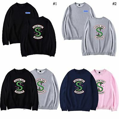 Southside Serpents Riverdale Sweater Sweatshirts Pullover Tops Langarm Kleidung