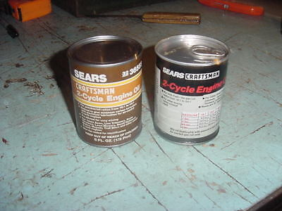 Details about  /Vintage Sears Craftsman Empty Linseed Can One Quart