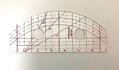 Arch/Wave/Straight Quilting Template  3mm Thick for Domestic Sewing Machines