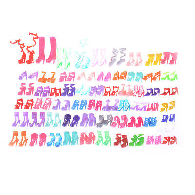 60 Pairs Fashion Doll High Heels Shoes Sandals For Barbie Doll Shoes Gift LJ