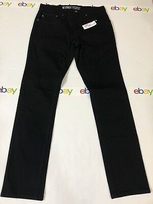 NWT! PACSUN  Mens MESEENGER Skinny Stretch Jeans Black Size 32  0304