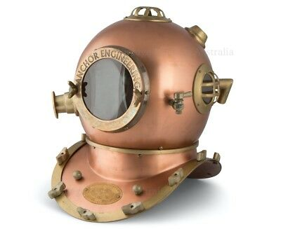 Diver's Helmet- US Navy Mark V Copper Antique Finish