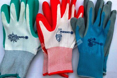 1 Pairs Garden Gardening Gloves Glove Nitrile Coated Work Set