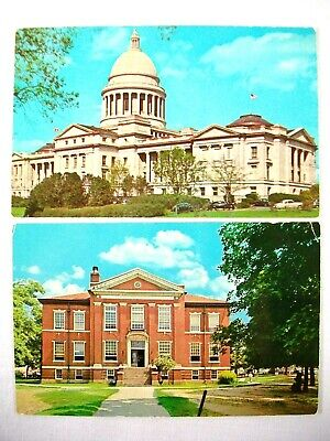 Vtg Arkansas Boone County Courthouse & State Capitol Postcards Clean Unused!