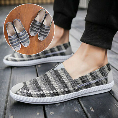 Men Casual Canvas Shoes Sneakers Loafers Sport Breathable,Comfy Flats Walking