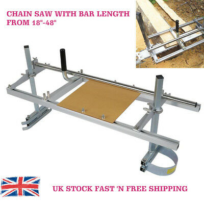 """Portable Chain Saw Mill Log Lumber Planking Cutting 18""""-48"""" Chainsaw Guide Bar"""