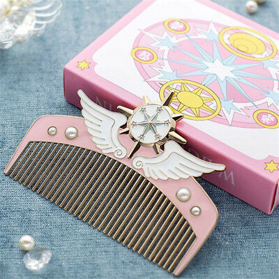 US Card Captor Sakura  Cardcaptor Sakura Dream Scepter Mini Makeup Metal Comb