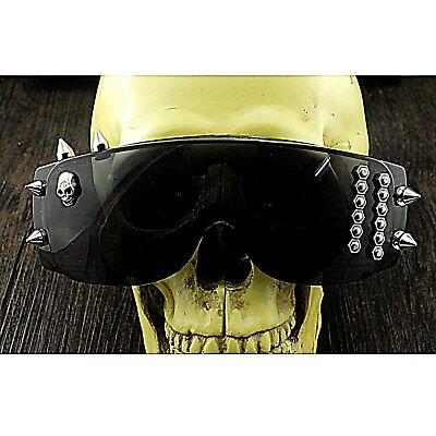 Punk Studded Sunglasses Mens Steampunk Rock Cosplay Eyeglasses