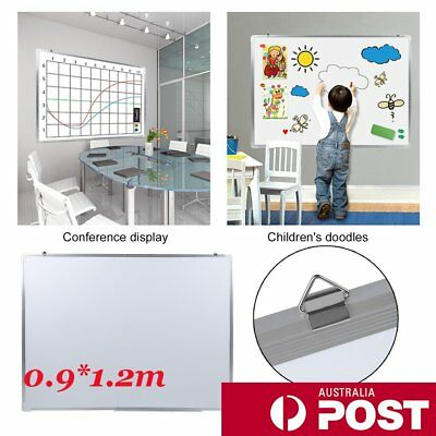 Magnetic Board Portable White board Commercial Quality 90 x 120cm Home Office @Q