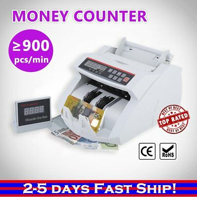 AUSTRALIAN NOTE COUNTER MONEY CASH MACHINE AUTOMATIC Counterfeit Detector @Q