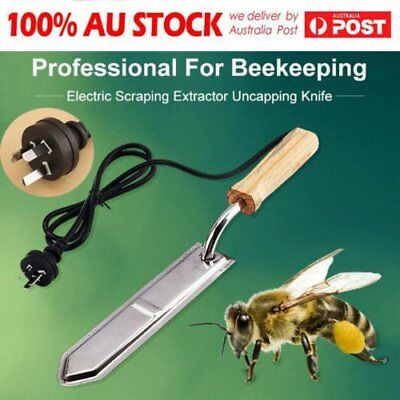 Electric Honey Bee Supply Scraping Extractor Uncapping Knife Beekeeping @Q G2