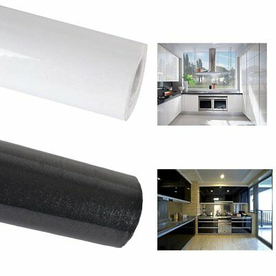 5/10m Kitchen Worktop Covering Vinyl Self Adhesive Black/White Cover Diy Roll UK