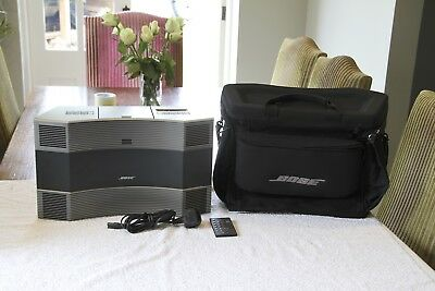 Bose Acoustic Wave Music System II + Carry Case - Titanium Silver - Mint Cond