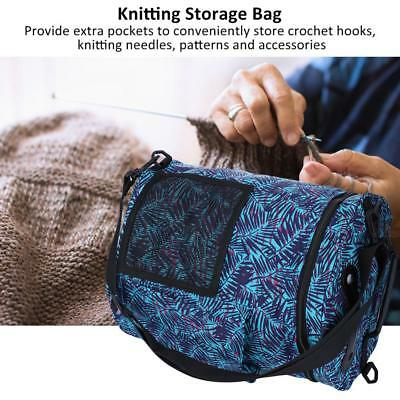 2pcs Portable Oxford Cloth Knitting Bag Yarn Thread Storage Bag Twin set