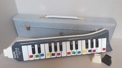 Hohner Melodica piano 26-Made in Germany-Blechgehäuse-all playable and audible