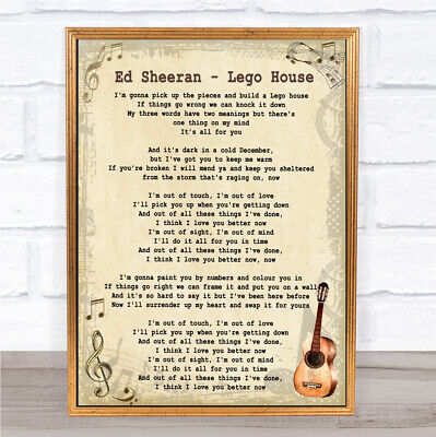 Lego House Song Lyric Vintage Quote Print