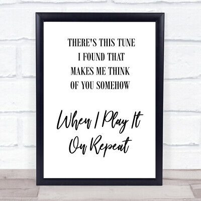 Do I Wanna Know Tune Song Lyric Quote Print