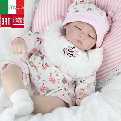 Bambole Hot Sale Lifelike Silicone Reborn Baby Doll Baby Girl Doll Playmate 17""