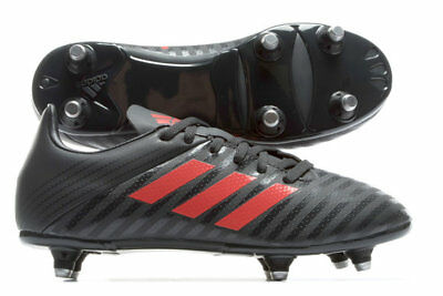 adidas Malice SG Junior Light Brown Red Rugby Boots Size UK 11 - 5