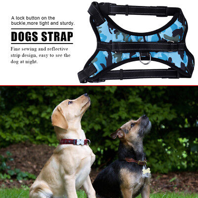 Large Pet Dog Cat Harness Vest Collar Adjustable Soft Collar Walk Out Hand Strap
