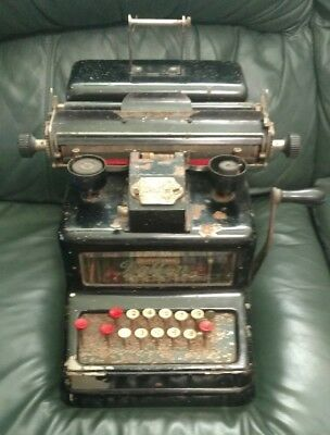 Antique Early 1904 Dalton Adding Machine with Glass Sides FREE SHIPPING