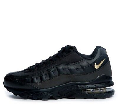 NIKE AIR MAX 95 PREMIUM GS Youth AH9346 001 Black Gold UK 3.5 EU 36 US 4Y New