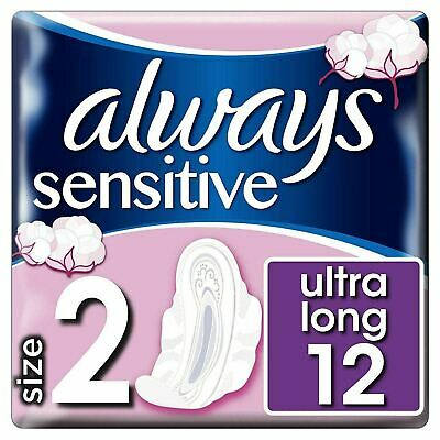 Always Sensitive Long Ultra Plus, Size 2 Sanitary Towels Pads + Wings Multi-Pack