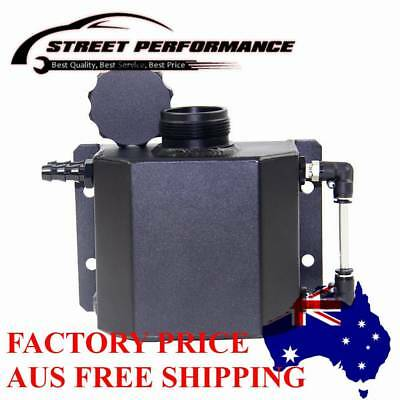 1L Universal Aluminum Coolant Radiator Overflow Recovery Water Tank Black