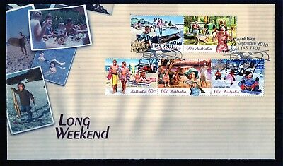 2010 Australia Long Weekend Set Of 5 STD Issue First Day Cover, Mint Condition