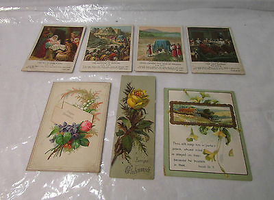 7 Antique Holy Card -Very Rare Holy Cards ...German & English - Circa 1800