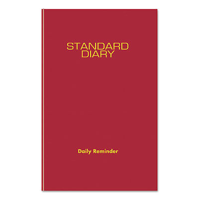 At-A-Glance Standard Diary Recycled Daily Reminder Red 5 3/4 x 8 1/4 2019