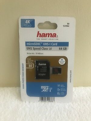 Hama Micro Sdxc 64GB Class 3 Memory Card And Adapter
