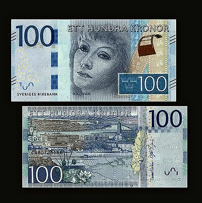 Sweden 100 Kronor 2015, P-New, UNC Money, Banknotes