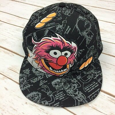 The Muppets Animal Drummer Disney Baseball Cap Hat Snapback Flat Brim Adult
